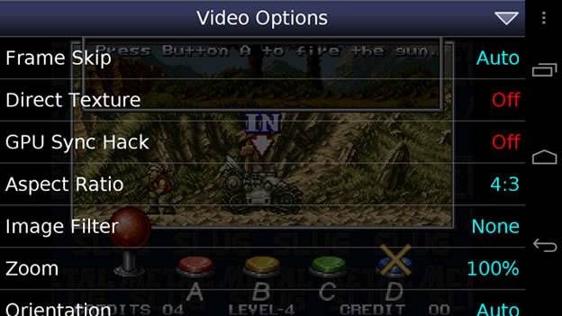 NEO-Geo emulator for Android